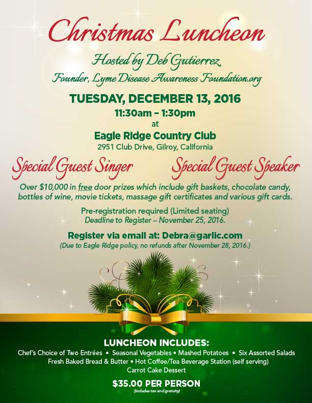 Christmas luncheon at Eagle Ridge Country Club, Gilroy Ca Lyme