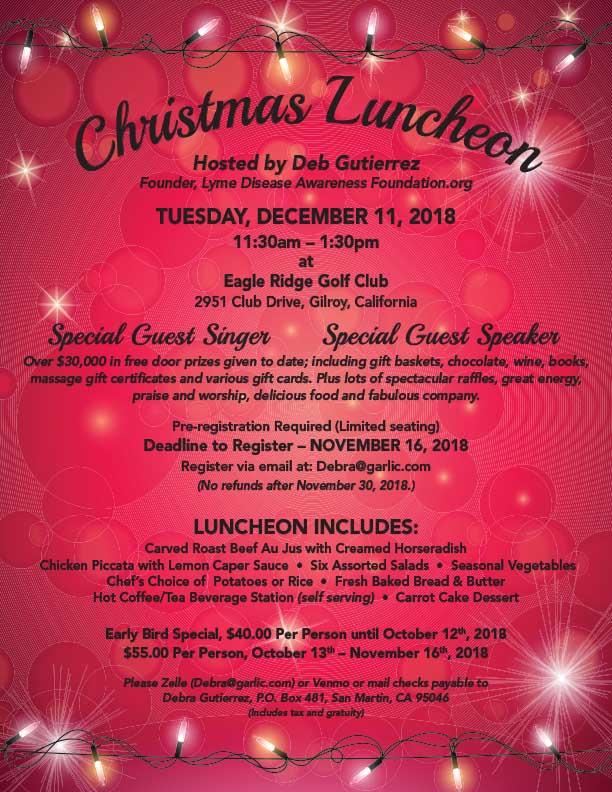 2018 Christmas Luncheon Lyme Disease Awareness Foundation