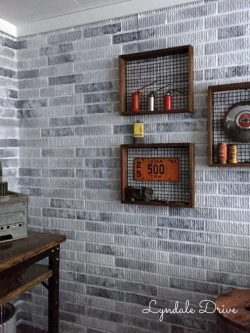 Enthralling How I Painted Faux Brick Walls Stick Mancave Faux Brick Wall Stickers Faux Brick Wall Peel