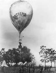 Professor Thaddeus Lowe's balloon