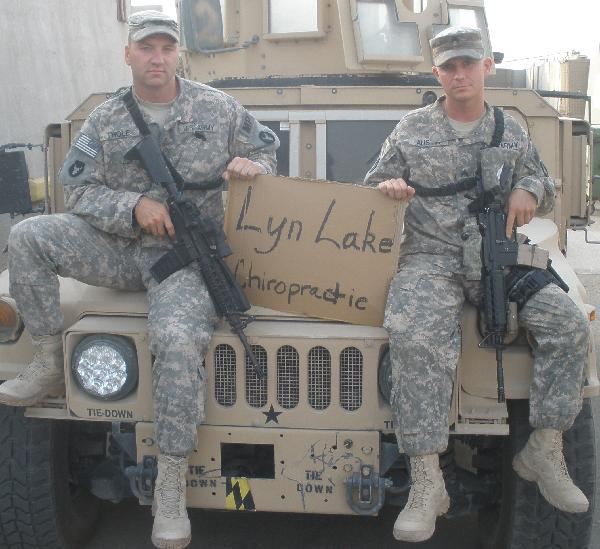 At Lyn Lake Chiropractic we support the troops!
