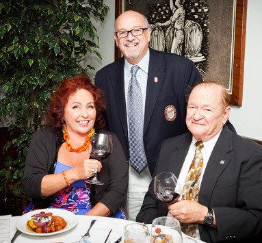 Casella and Rogers enjoy the Anderson Valley De Reves 2012 Pinot Noir after Jordan answers a question about it.