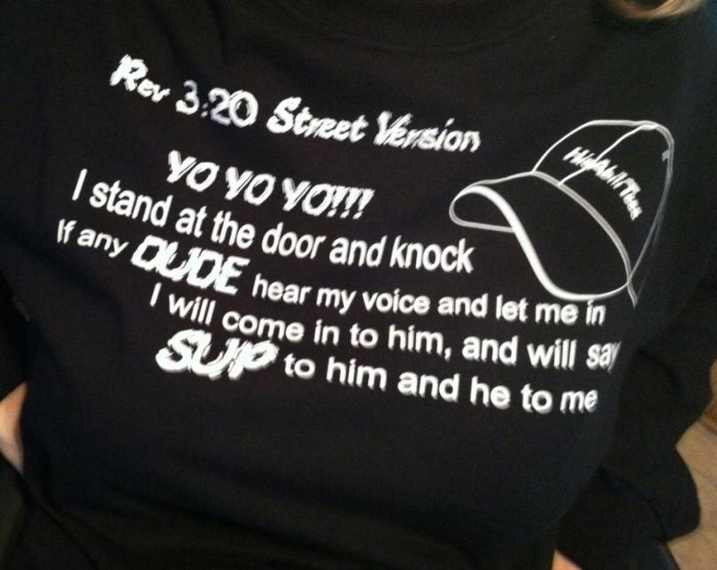 Rev 3:20 Street Version