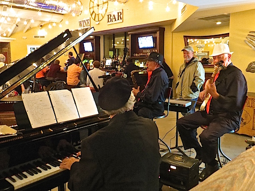 A Jazz trio at the Wine Bar in Delray Beach