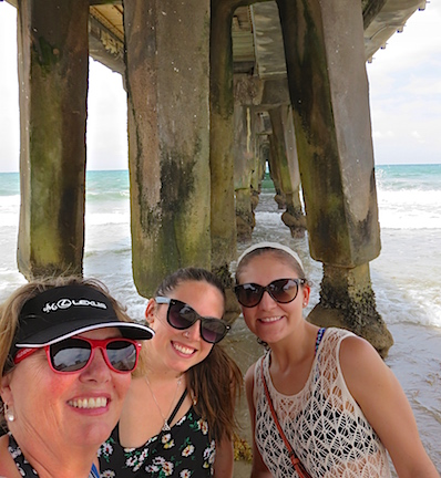 "A ""wefie"" under the pier just south of Lighthouse Point."