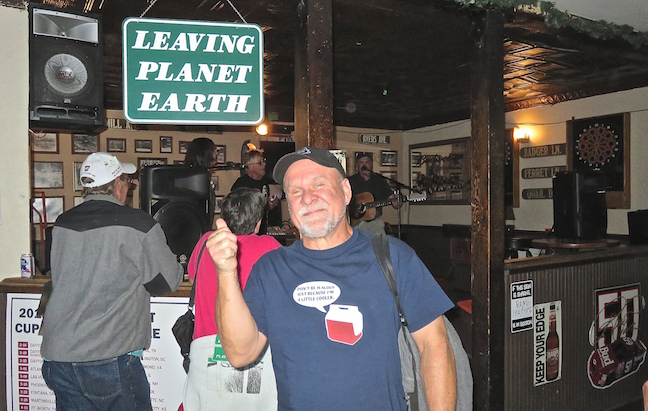 "We ran into a huge crowd of former Grand County seasonal employees at the Crooked Creek Saloon attending a ""Leaving Planet Earth"" event."