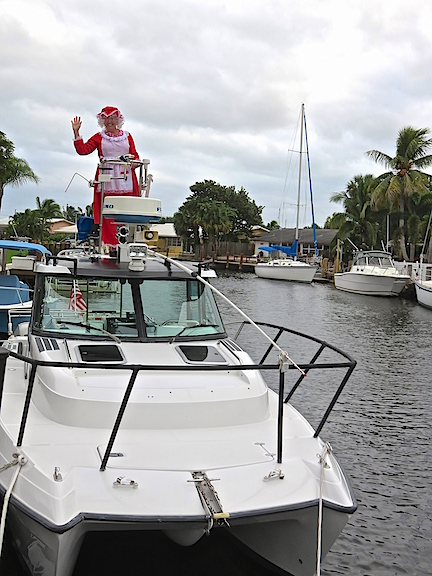 MRS. CLAUS GOES BOATING