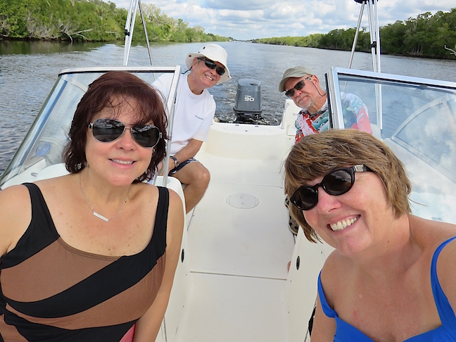 Plenty of room and very shallow draft are important features for cruising the 10,000 islands. At low tide we often crossed areas inside the marked channel that were less than 3-feet deep.