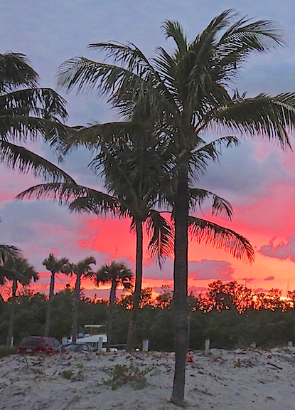 The sunset over the Marina at Dania Beach was amazing.