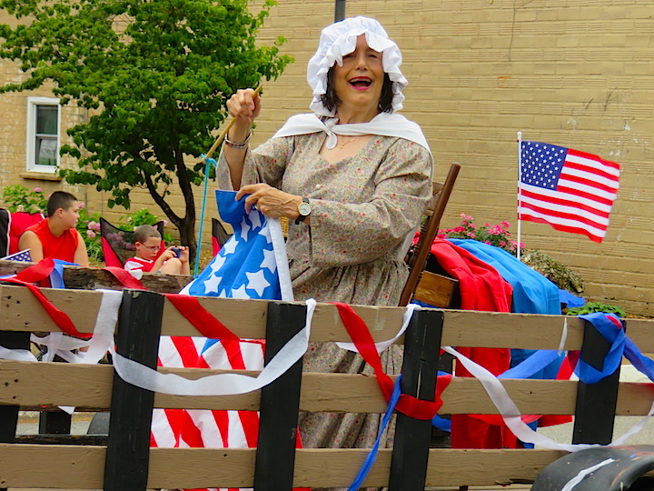 Betsy Ross sewed her way into our memories with smiles and laughter from a stake side trailer.