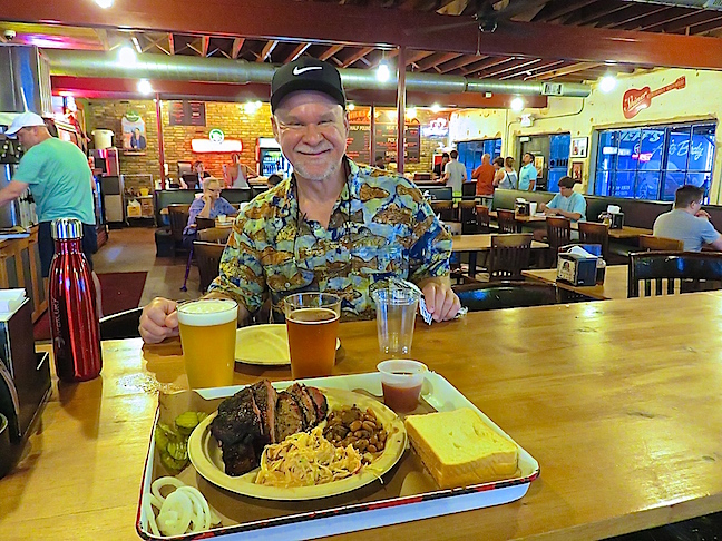 Owner Shane Stiles and pitmaster Lance Kirkpatrick have considerable cooking experience. The brisket was excellent and their local craft beer soothingly cold on record setting hot day.