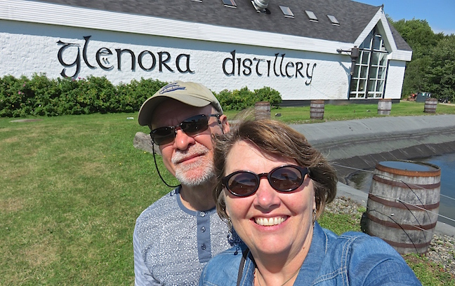 We arrived at North America's First Single Malt Whisky Distillery just in time to catch the first tour. Glenora Inn and Distillery operates in the Mabou Highlands.