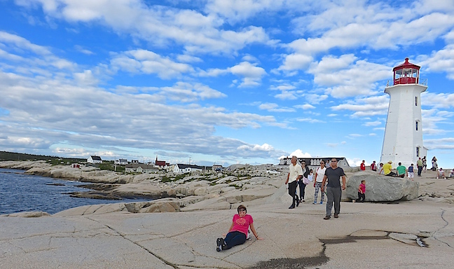 The entire coast of Nova Scotia is peppered with coves and quaint fishing villages that beg to be explored. Our last and favorite stop for the day was Peggy's Cove. The iconic light house stands guard atop a mass of jumbled granite that has been scoured smooth by crashing waves.