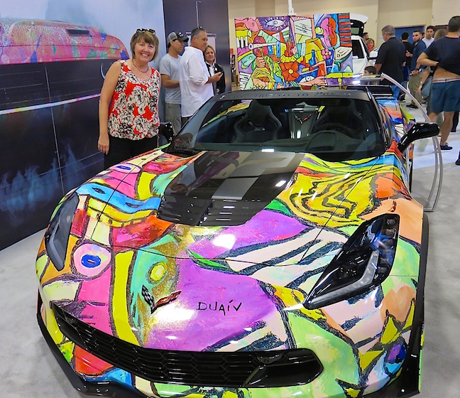 You could use a computer app to design any kind of paint scheme for your dream car.
