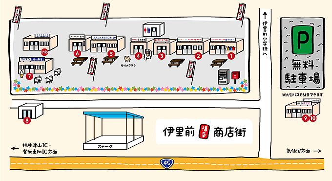 伊里前福幸商店街マップ