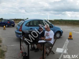 John (G7OHO) operating GB0NFL with Chris (G0VUT) on the log.