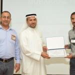 العبدالمحسن يقدم شهادة شكر لادارة معهد أرامكو