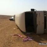 .انقلاب حافلة تقل ٢٣ طالبا شرق رفحاء