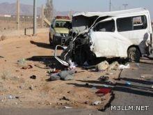 وفاة معلمة وإصابة 7 أخريات في حادث مروع بالجموم