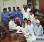 فريق عطائي بمدرسة البخاري وابن باز يساهم في نشر الدعوة