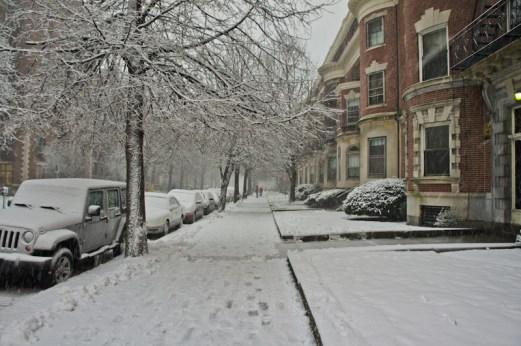 Rue avec neige
