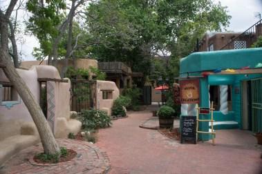 Old Town Albuquerque Nouveau Mexique petite cour