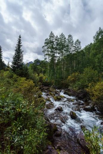aspen Maroon Bells Colorado rivière