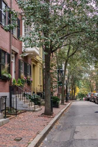 Fall Boston Beacon Hill