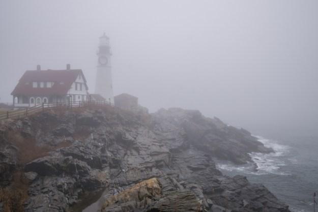 Maine Phare Portland brouillard