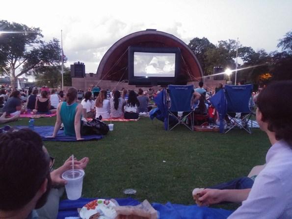 Hatch Shell Boston pique nique et film plein air boston