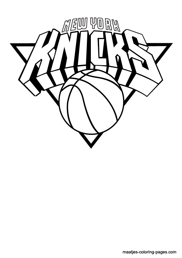 Knicks Free Coloring Pages SaveEnlarge