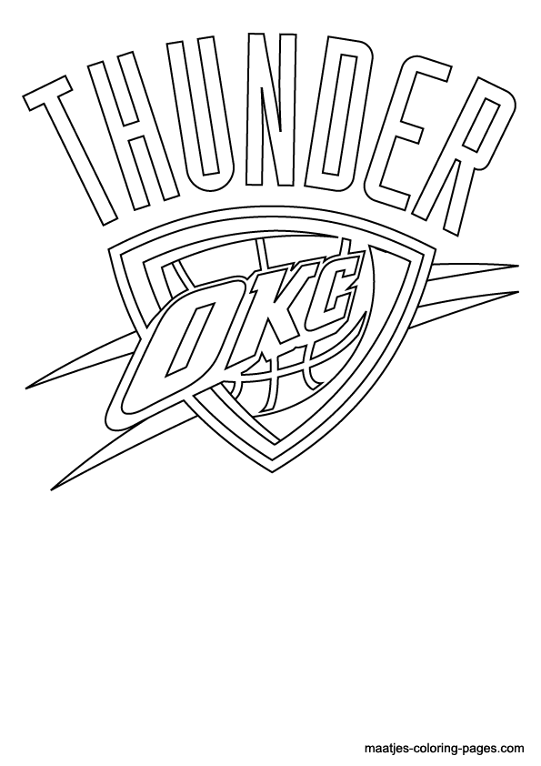 Oklahoma City Thunder Coloring Pages