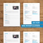 Creativemarket 2 Page CV Template easy to edit 77230