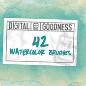 Creativemarket 42 Watercolor Brushes 181963 icon