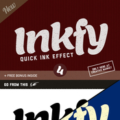 Creativemarket Inkfy 4 Quick Ink Effect SALE 57876