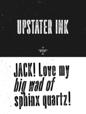 Upstater Ink Font Family 2 Fonts