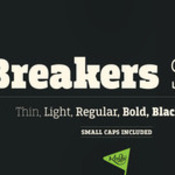 Breakers Slab Font Family OTFWOFF icon