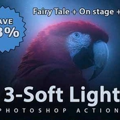Creativemarket 3 Soft Light Photoshop Actions 253044 icon