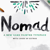 Creativemarket nomad font plus extras 344400 icon