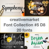 Font collection no5 d8 20 fonts logo icon