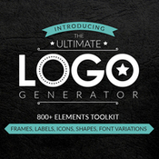 Graphicboom ultimate logo generator frames labels icons shapes and fonts icon