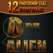 12 photoshop text effect styles vol 12 11650499 icon