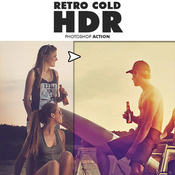 Retro cold hdr photoshop action 11757779 icon