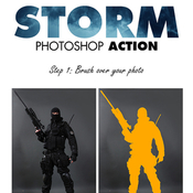 Storm photoshop action 11662248 icon