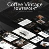 Coffee vintage powerpoint template 874295 icon