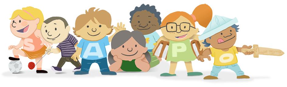 Ilustração para o Dia da Criança - Detalhes