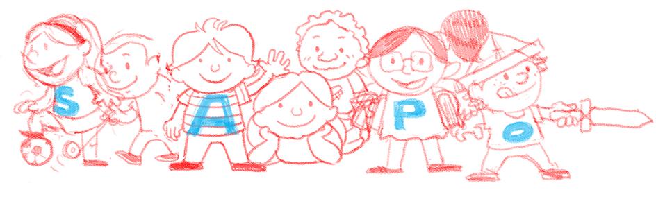 Ilustração para o Dia da Criança - esboço