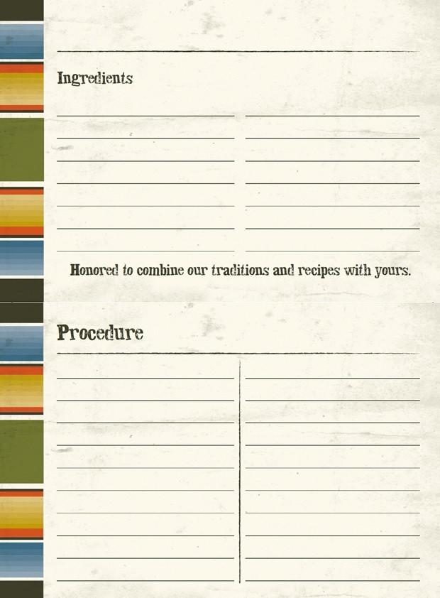 Blank Recipe Cards - Macayo\u0027s Mexican Restaurants