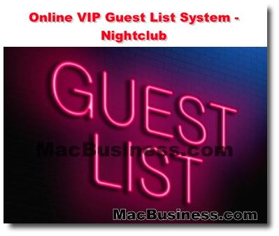 Online VIP Guest List System - Nightclub - Interactive Website