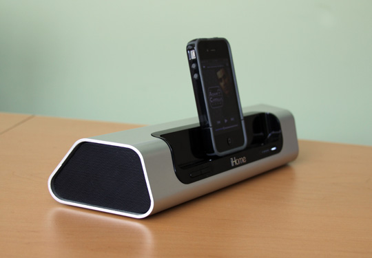iHome iD9 portable rechargeable speakers for iPhone iPad iPod touch